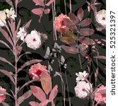 art vintage blurred monochrome... | Shutterstock . vector #525321397