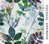 art vintage blurred monochrome... | Shutterstock . vector #525321421