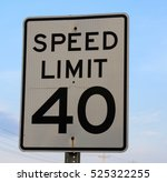 close view on a speed limit... | Shutterstock . vector #525322255