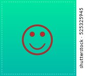 smile. red vector icon with...