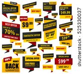 set of sticker and banner... | Shutterstock .eps vector #525330037