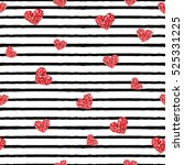seamless pattern with stripes... | Shutterstock .eps vector #525331225