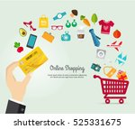 online shopping e commerce... | Shutterstock .eps vector #525331675