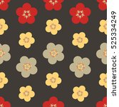 trendy seamless floral ditsy... | Shutterstock .eps vector #525334249