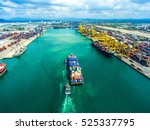 container container ship in... | Shutterstock . vector #525337795