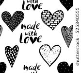 monochrome romantic seamless... | Shutterstock .eps vector #525340555