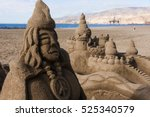 Sand Sculpture On A Beach