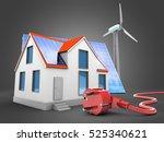3d illustration of modern house ... | Shutterstock . vector #525340621