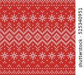 christmas knitting seamless... | Shutterstock .eps vector #525340951