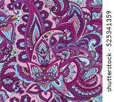 "seamless pattern of ""paisley""... | Shutterstock .eps vector #525341359"