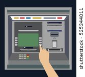 Atm Machine With Hand  Payment...