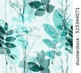 art vintage blurred monochrome... | Shutterstock . vector #525344071