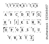 type writer alphabet for your... | Shutterstock .eps vector #525345457
