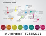 infographic world color... | Shutterstock .eps vector #525352111