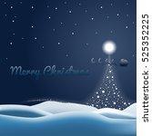 christmas snow background vector | Shutterstock .eps vector #525352225