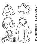 winter clothes. | Shutterstock .eps vector #525353689