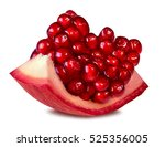 pomegranate isolated on white... | Shutterstock . vector #525356005