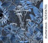 art vintage blurred monochrome... | Shutterstock . vector #525356701