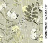 art vintage blurred monochrome... | Shutterstock . vector #525356749