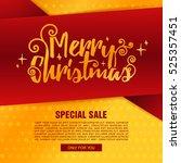 template design merry christmas ... | Shutterstock .eps vector #525357451
