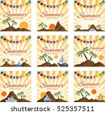 set of summer festive...   Shutterstock .eps vector #525357511
