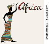 african woman silhouette and... | Shutterstock .eps vector #525361594