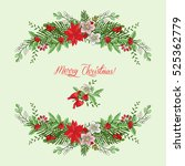 background with christmas... | Shutterstock .eps vector #525362779