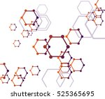 abstract molecular structure... | Shutterstock .eps vector #525365695