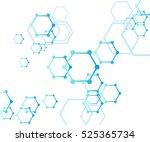 abstract molecular structure... | Shutterstock .eps vector #525365734