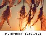 dreamcatcher sunset   the... | Shutterstock . vector #525367621