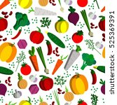 paper vegetables flat style... | Shutterstock . vector #525369391