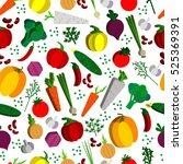 paper vegetables flat style... | Shutterstock . vector #525369391