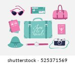 retro set of vector... | Shutterstock .eps vector #525371569
