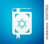 jewish torah book flat icon on... | Shutterstock . vector #525373321