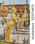 traditional golden statues...   Shutterstock . vector #525374875