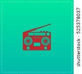 classic 80s boombox. red vector ... | Shutterstock .eps vector #525378037