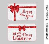 christmas ornamental card... | Shutterstock .eps vector #525382951