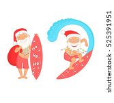 smiling summer santa claus with ...   Shutterstock .eps vector #525391951