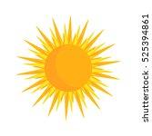 yellow simple sun icon...   Shutterstock .eps vector #525394861