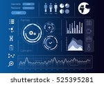 security virtual interface .... | Shutterstock . vector #525395281