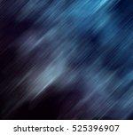 Blue Northern Lights On A Blac...