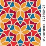seamless pattern morrocan... | Shutterstock .eps vector #525400429