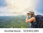 Hiker With Camera And Backpack...