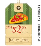 italian food   tag with pizza... | Shutterstock .eps vector #525405151