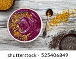 acai breakfast superfoods... | Shutterstock . vector #525406849