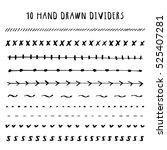 text dividers vector design... | Shutterstock .eps vector #525407281