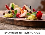 foie gras pate with butter | Shutterstock . vector #525407731
