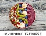 acai breakfast superfoods... | Shutterstock . vector #525408037