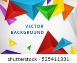 background triangle elements... | Shutterstock .eps vector #525411331