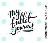 planner habit bullet journal... | Shutterstock .eps vector #525414334